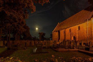 Full Moon above the graveyard von Wil de Boer