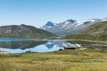 wanderoute in nationaal park noorwegen