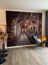 Klantfoto: wijnkelder van Frans Scherpenisse, als print op doek