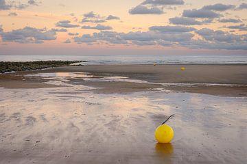 Boje am Strand von Koksijde von Johan Vanbockryck
