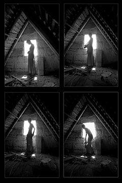Auf dem Dachboden Tetrastichon von Bert Burkhardt