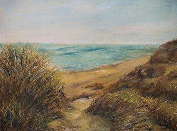 Duinen, strand, zee. van Ineke de Rijk