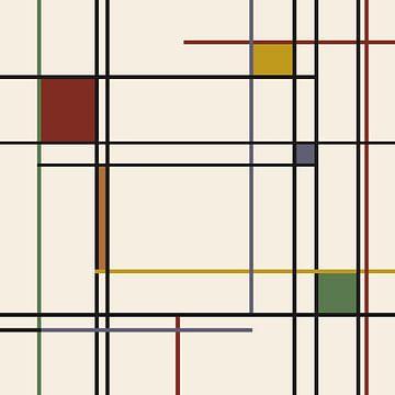 Lines-Piet Mondrian sur Marion Tenbergen