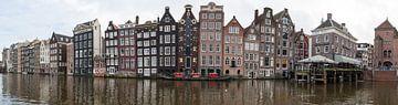 Amsterdamer Panorama eines Kanals mit Häusern von Atelier Liesjes