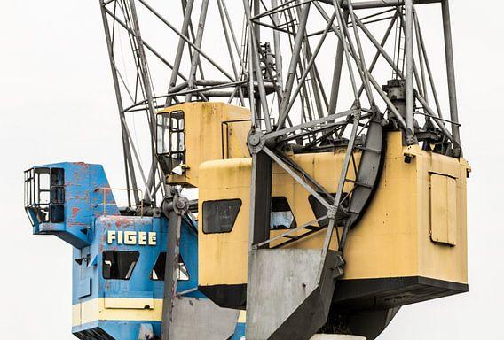 Hijskranen in de Rotterdamse haven van Dirk Jan Kralt