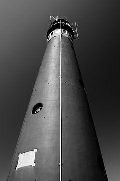 Leuchtturm Noordertoren Schiermonnikoog, in schwarz und weiß von Patrick Verhoef
