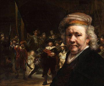 Die Nachtwache und das Selbstporträt von Rembrandt van Rijn von Eigenwijze Fotografie