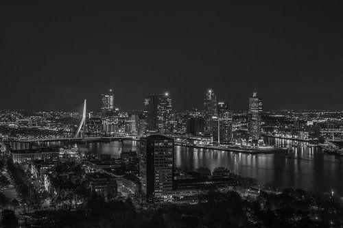Het uitzicht op de skyline van Rotterdam van MS Fotografie