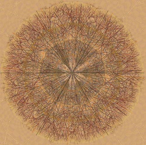 Mandala grafisch in bruintinten