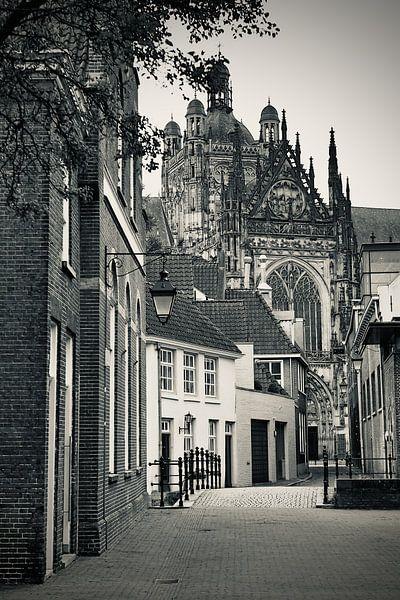 In den Boerenmouw Den Bosch, met uitzicht op de Sint Jan van Den Bosch aan de Muur