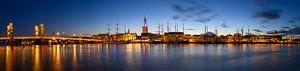 Stadsfront van de Hanzestad Kampen aan de IJssel