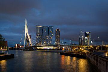 Skyline Rotterdam van Wim van der Wind