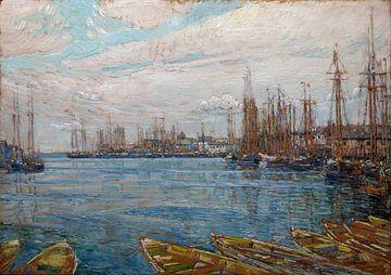 Childe Hassam, Hafen der tausend Masten, 1919 von Atelier Liesjes