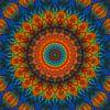 Mandala blau von Marion Tenbergen Miniaturansicht