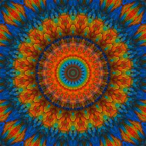 Mandala blau