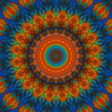 Mandala blauw van Marion Tenbergen