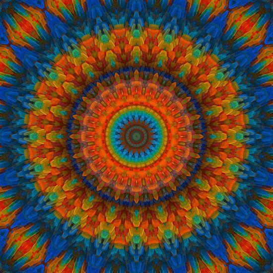 Mandala blau von Marion Tenbergen