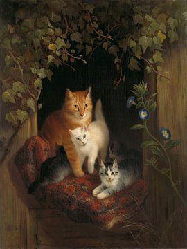 Katze mit Jungen, Henriëtte Ronner