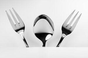Figuur van lepel en twee vorken