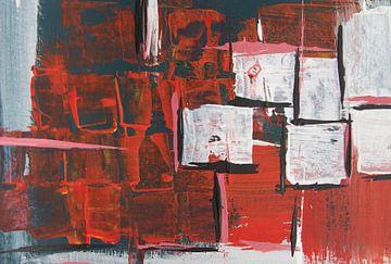 Mysterieus - Halslijn - Rood van Susanne A. Pasquay