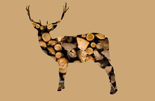 houten hert van Felagrafie .