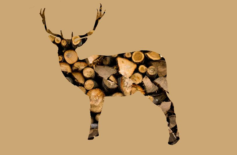 houten hert van Fela de Wit