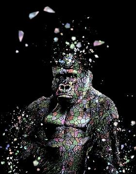 La mosaique du gorille I von Catherine Fortin
