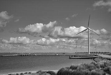 Windmühlen bei Neeltje Jans von Martine Moens