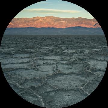 Badwater Basin tijdens zonsopkomst