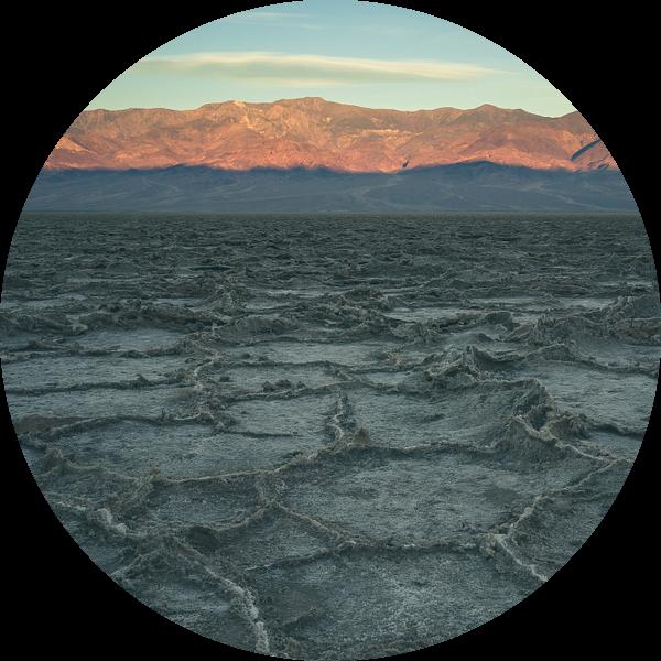 Badwater Basin tijdens zonsopkomst van Jasper van der Meij