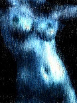 Abstrakter weiblicher Akt von Maurice Dawson