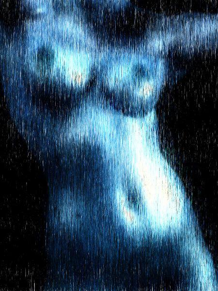 Abstract vrouwelijk naakt van Maurice Dawson