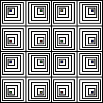 Nested | Offset | 04x04x02 | N=06 | V40 | Random #01 | RGBY van Gerhard Haberern