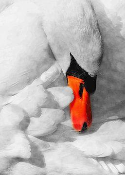 Schwan Vogel Aquarell Kunst #swan von JBJart Justyna Jaszke