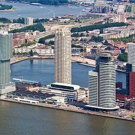 Aerial Panorama Wilhelmina-Pier in Rotterdam von Anton de Zeeuw