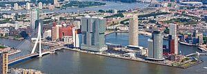 Luchtfoto panorama Wilhelminapier van