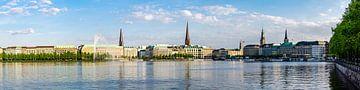 Panorama Buiten Alster in Hamburg van Dieter Walther