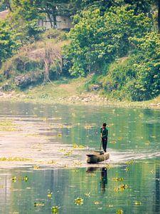 Een man en zijn boot