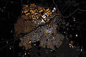 Kaart van Rijssen abstract van