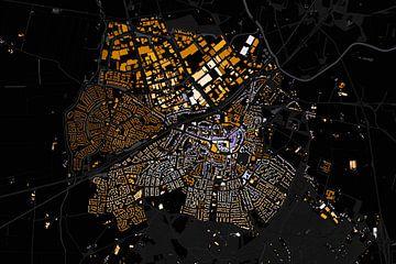 Kaart van Rijssen abstract sur Stef Verdonk