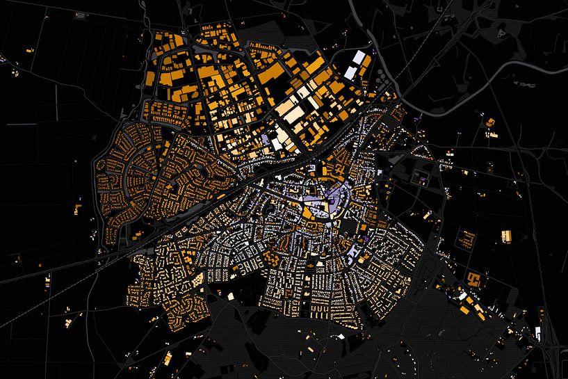 Kaart van Rijssen abstract van Stef Verdonk