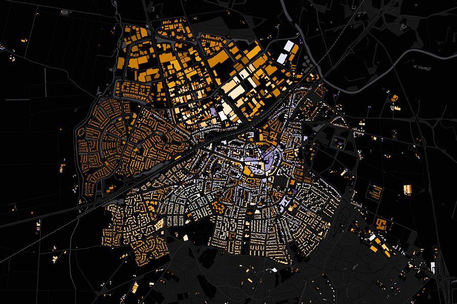 Kaart van Rijssen abstract