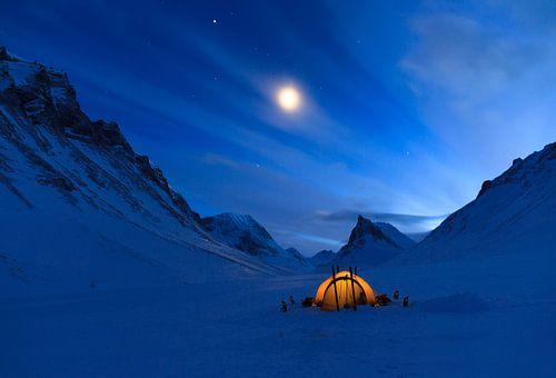 Winter in de bergen. van