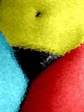 Wie is er bang voor rood, geel en blauw? van McRoa