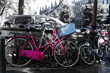Roze fiets van Tim Briers