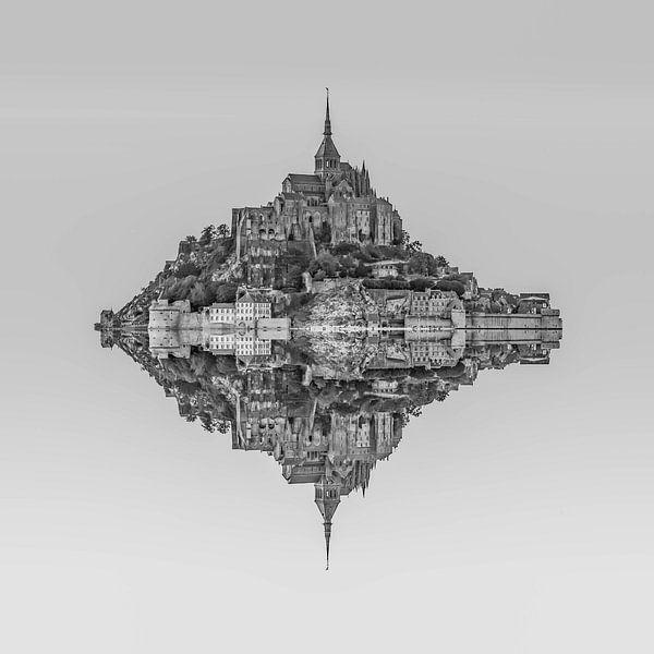 Le Mont Saint Michel van Rene Ladenius Digital Art