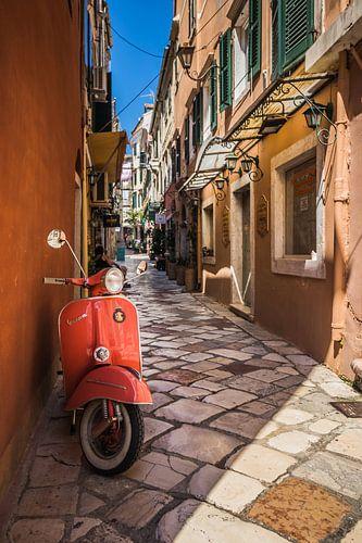 Vespa scooter in Griekenland