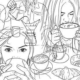 Geen dag zonder koffie van Natalie Bruns