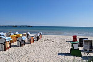 Chaises de plage à Binz, Rügen
