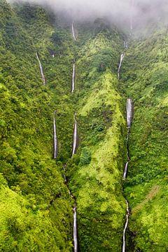 Watervallen op Kauai van Dirk Rüter